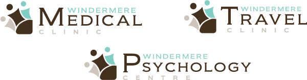 Windermere Medical and Psychology and Travel logos